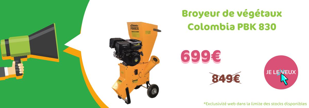 Broyeur de végétaux Colombia PBK 830